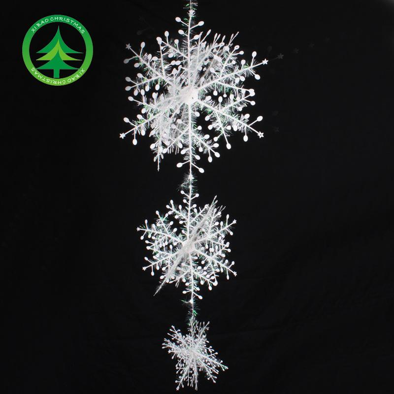 Best Tree Ornament Hanging Snowflakes Ceiling Party Ornaments White Iridescent Glitter Snowflake On String Hanger For Dhl Under 1 86