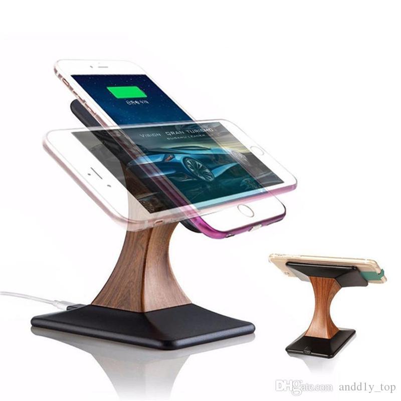 Supporto display di ricarica wireless Qi iPhone X 8 Samsung Galaxy S8 S7 Supporto caricabatterie wireless telefono cellulare con nota 8