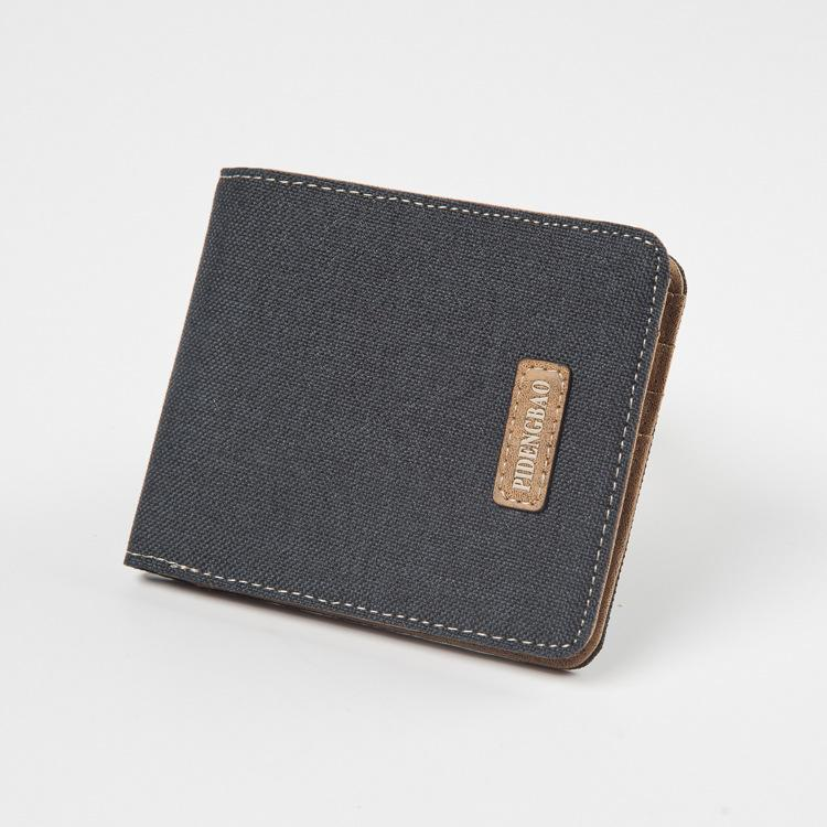 mens canvas leather wallet small bifold card holder billfold with id window hobo wallets on sale wallet on a string from huangrongguojing 766 dhgate - Bifold Card Holder
