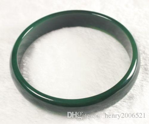 selling well all over the world unimaginable beautiful GREEN NATURAL JADE BANGLE BRACELET 68 mm BIG SZ BOX