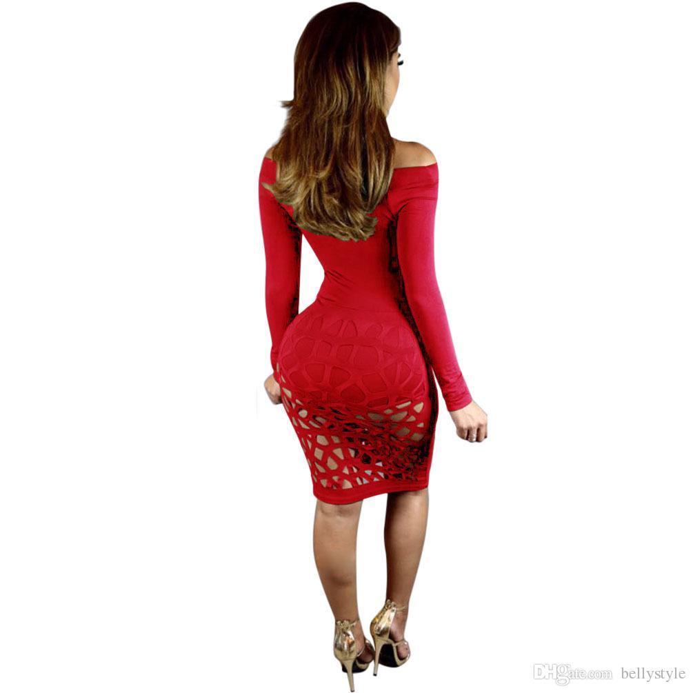 robe femme ete 2018 slip dress Our pure burning flower hole tight club bandage dress for women dashiki dresses