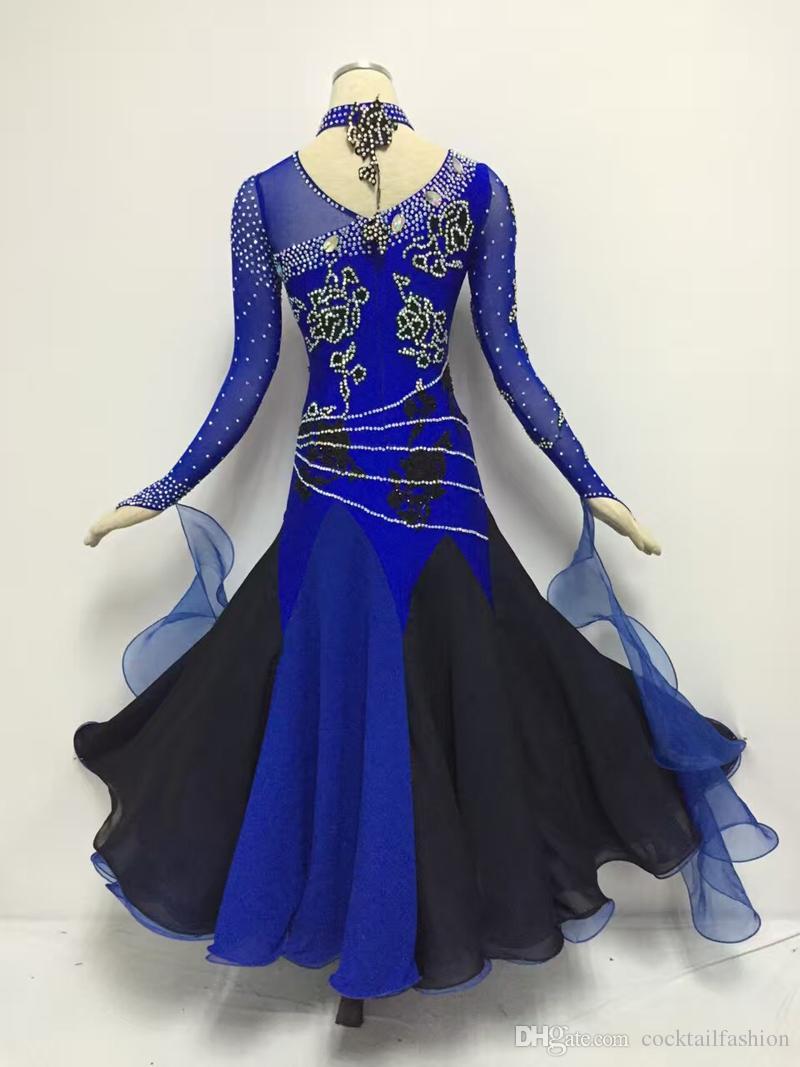 d232677b4 Standard Waltz Dance Dress New Arrival Royal Blue Shiny Diamond Tango Ballroom  Competition Dancing Costume Women's Ballroom Dance Dresses