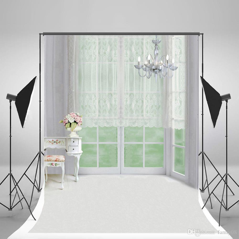 2019 5x7ft150x210cm Indoor Bedroom Backgrounds White Lace