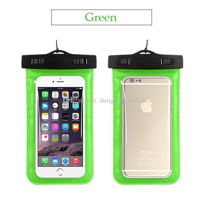 Bolso seco subacuático durable universal impermeable del caso con la correa del brazalete para Apple iPhone 7,6S, 6S más, 5S, Samsung S7 S6 edge