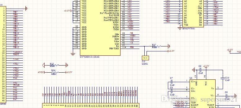 cy7c68013 schematic usb controller sch epm240t100c5n max232 db9 rh dhgate com usb keyboard controller schematic usb controller circuit board