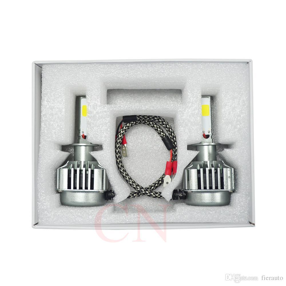 Kit de conversion lumineux superbe superbe automatique de lumières de la voiture LED d'ampoules de phare de la voiture H7 H3 H11 / H8 / H9 HB3 de 90 LED