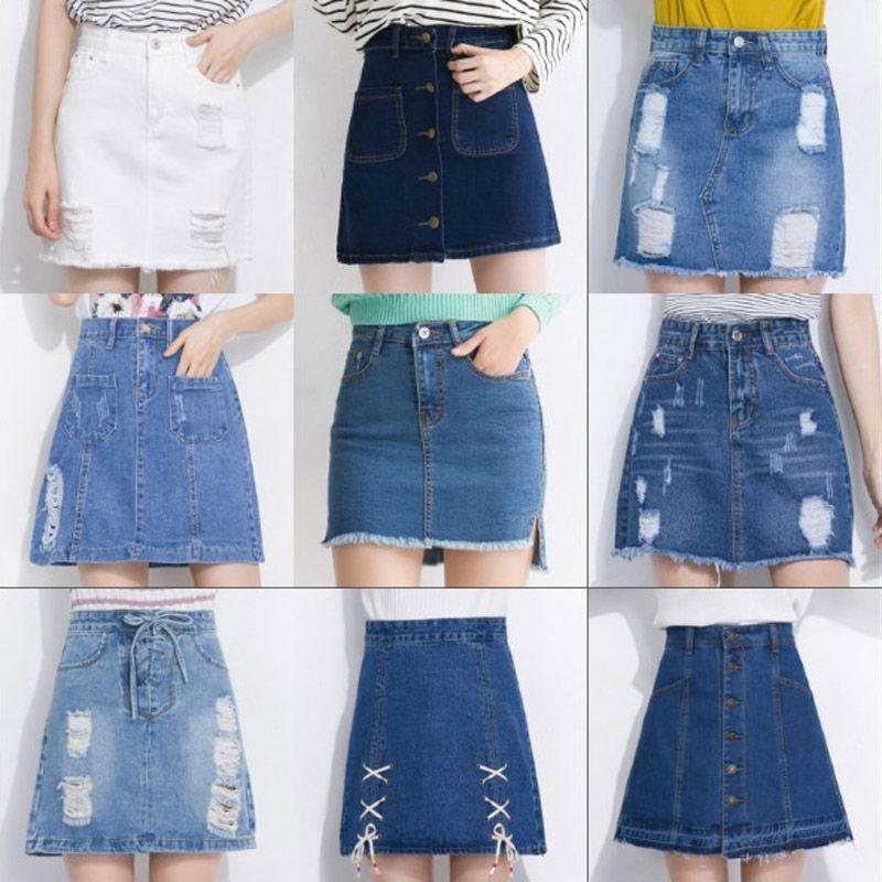 a0877bd6d7 Wholesale Midi Denim Skirt Of Design Summer Split High Waist Short Hole Jeans  Skirt Irregular Sexy Jean Pencil Skirts Women Canada 2019 From  Remembermestore ...