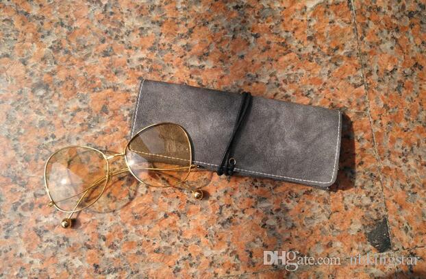 خفيفة الوزن المحمولة بو حقائب النظارات الشمسية حقيبة الحقيبة موضة النظارات الحالات الناعمة للنساء الرجال 8 * 18 / شحن مجاني