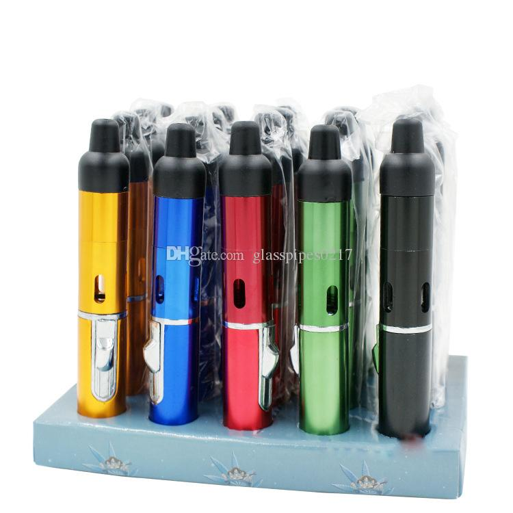 Clicca N Vape sneak un Vape tubi di erbe portatili Tubo di fumo butano ricaricabile Flame Lighter con built-in torcia antivento Jet Flame Lighter