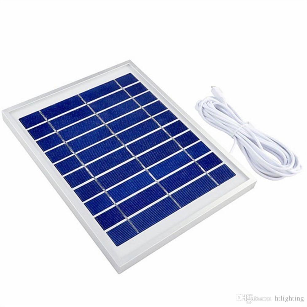 6 ensembles 4.5W panneau solaire 5000mah batterie banque d'alimentation mobile LED ampoule lampe système d'éclairage solaire à la maison d'éclairage de secours