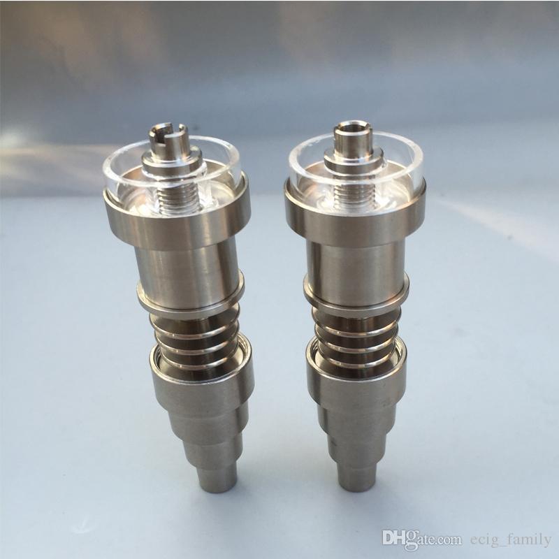 Titane avec le plat de quartz Clou 10mm 14mm 18mm Joint Mâle et Femelle 6 IN 1 Diamant Sans Domicile Clou Monter le serpentin de 20mm