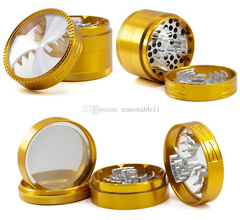 2.5inch Herb Grinder Tabacoo Crusher 63mm Alunimun Three Flower Patten Cover New Improve Sharp Teeth