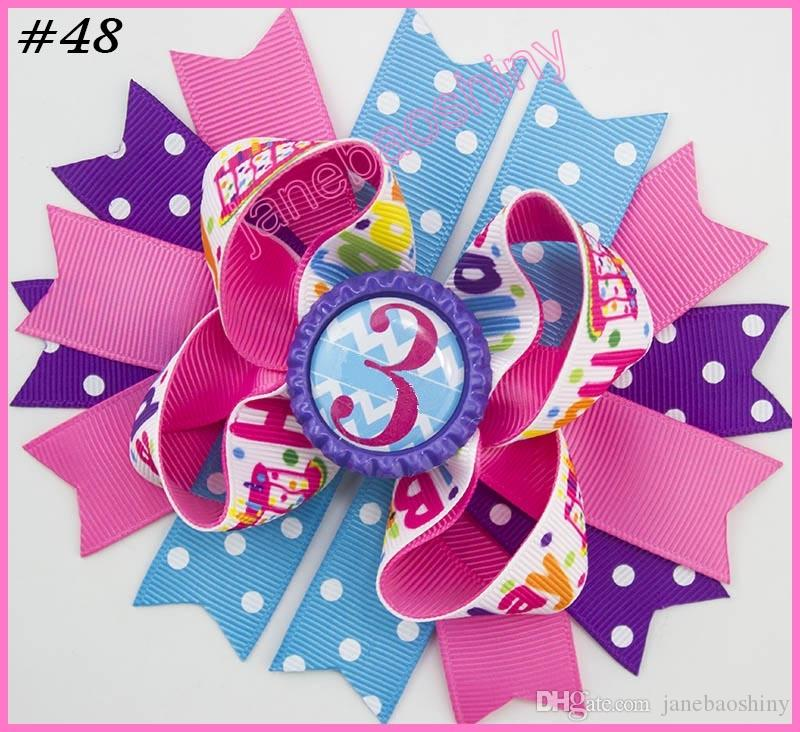 5'' 2017 newest character bows school hair bows Patriotic Bow inspired hair clips fashion girl hair accessories
