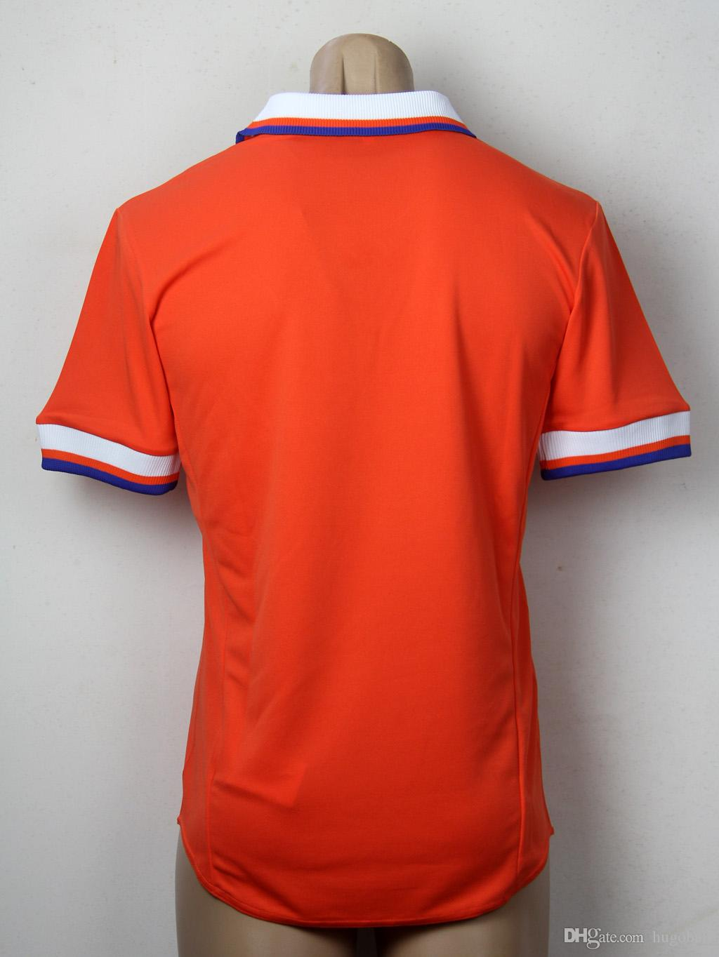 Retro Jersey 1997 98 Netherlands Home Orange Commemorative Edition Soccer  Jerseys BEST Quality Holland Football Shirt UK 2019 From Hugoball dcaa3a84d