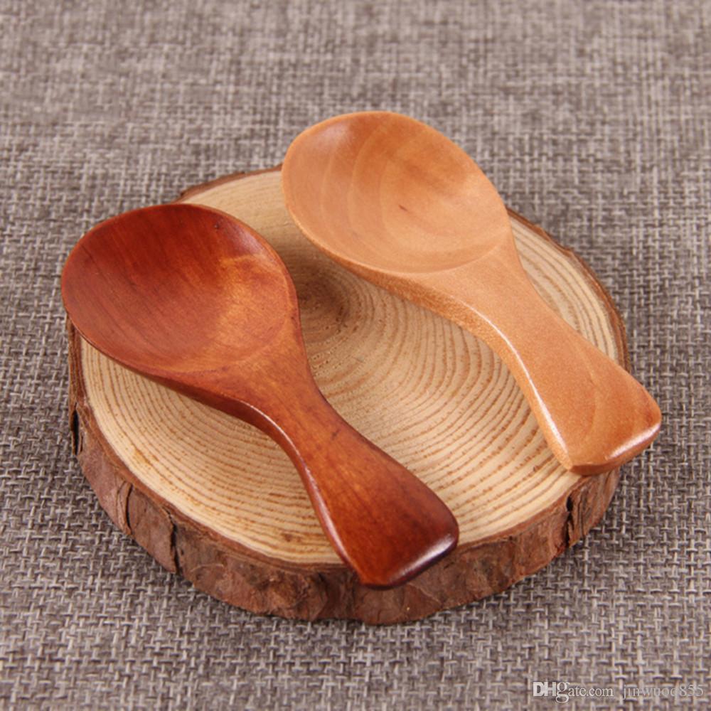 Compre Mini Colher De Madeira Natural De Bambu Café Colher De Chá