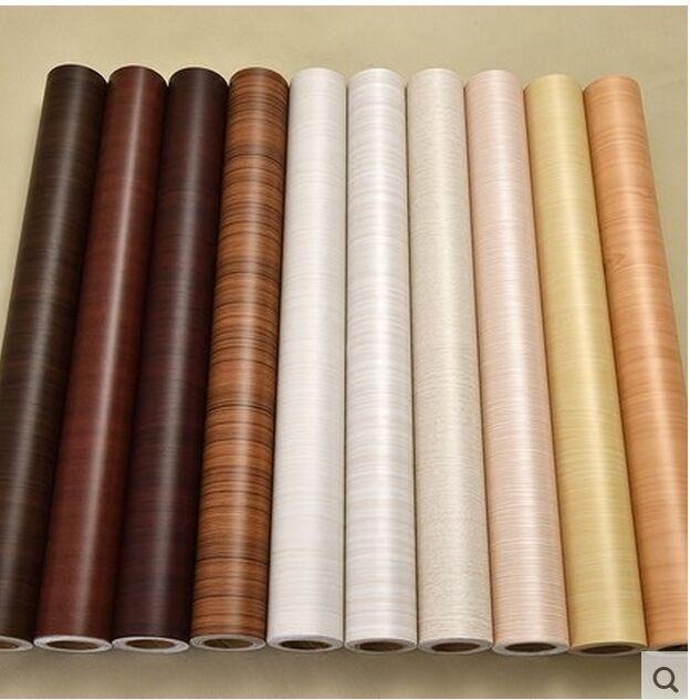 Back Glue Pvc Wood Grain Wall Sticker Waterproof Wallpaper