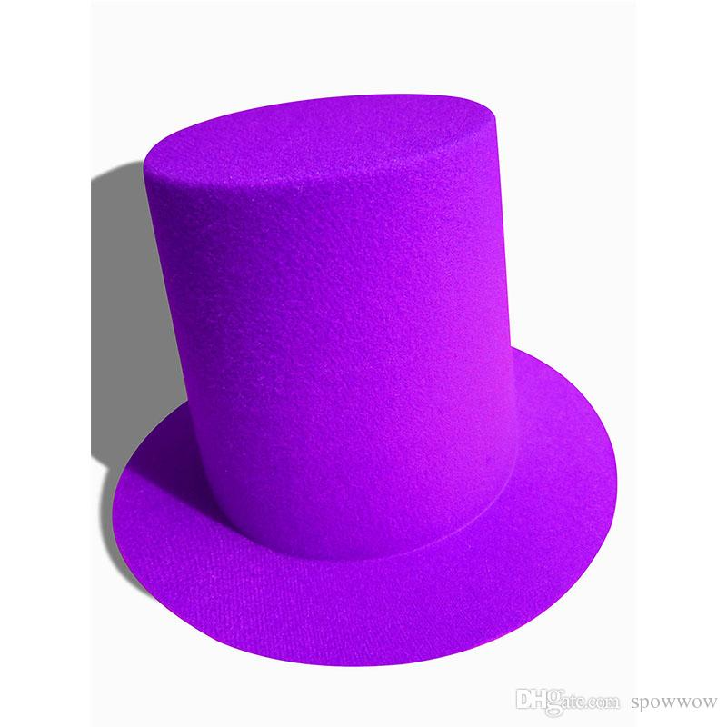 Senhoras Mini Top Hat Alto High Millinery Fascinator Base Artesanato DIY Jacaré Clipes Cor Sólida A006