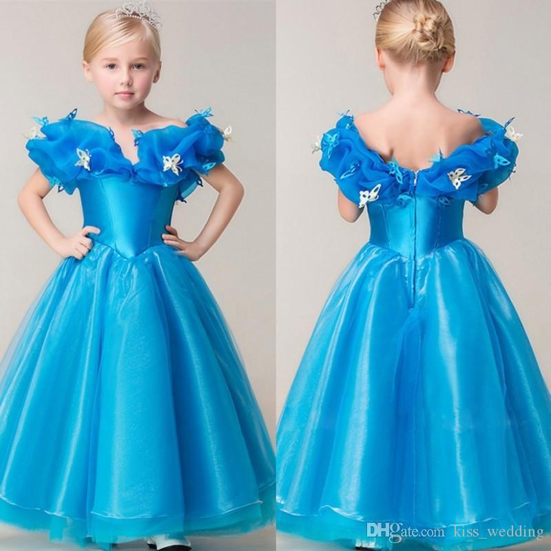 Großhandel Heißer Verkauf Cinderella Blue Prom Kleider Mädchen ...
