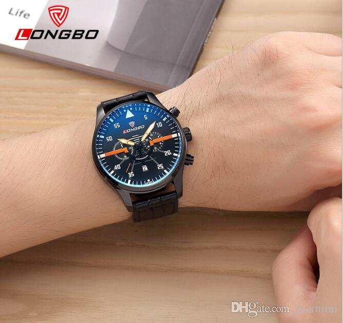 2017 Treaure Mens Dress Watches Casual Men leather Wristwatches Watch Waterproof Wrist Watches.