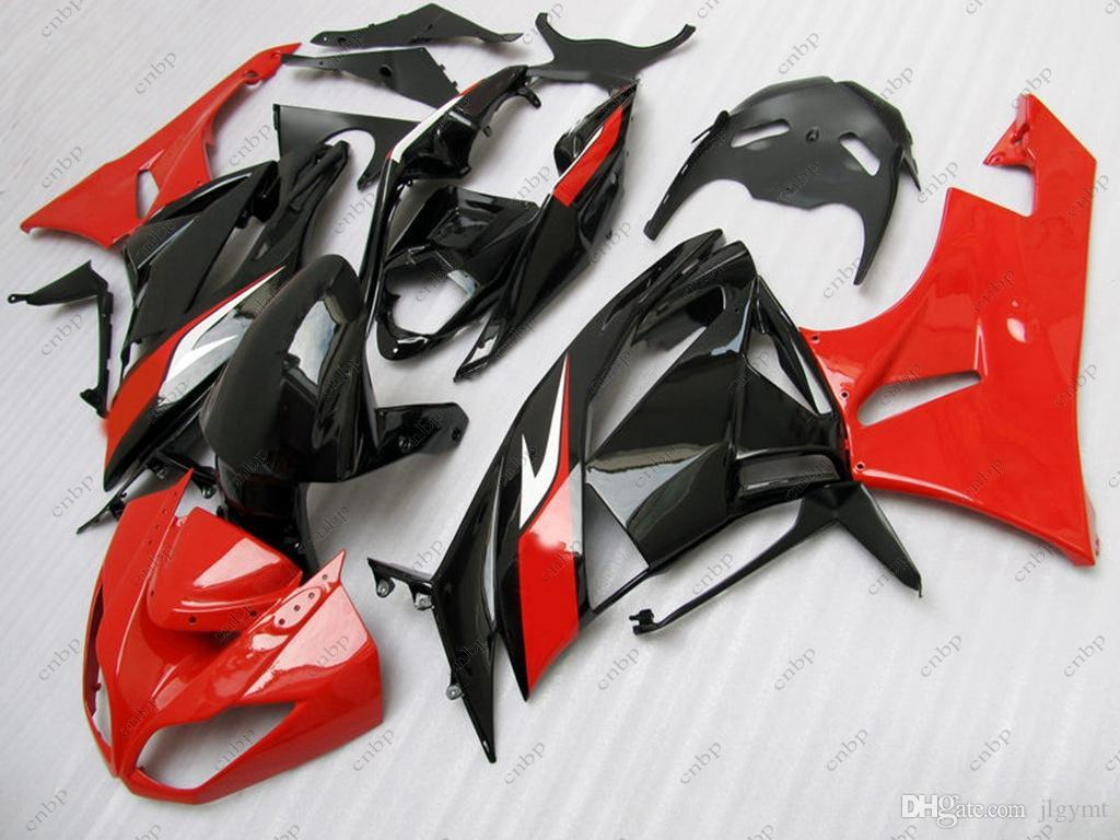 Plastic Fairings Ninja Zx-6r 09 10 Full Body Kits for Kawasaki Zx6r 2011 Black Red Fairing Kits 636 Zx-6r 2010 2009 - 2012