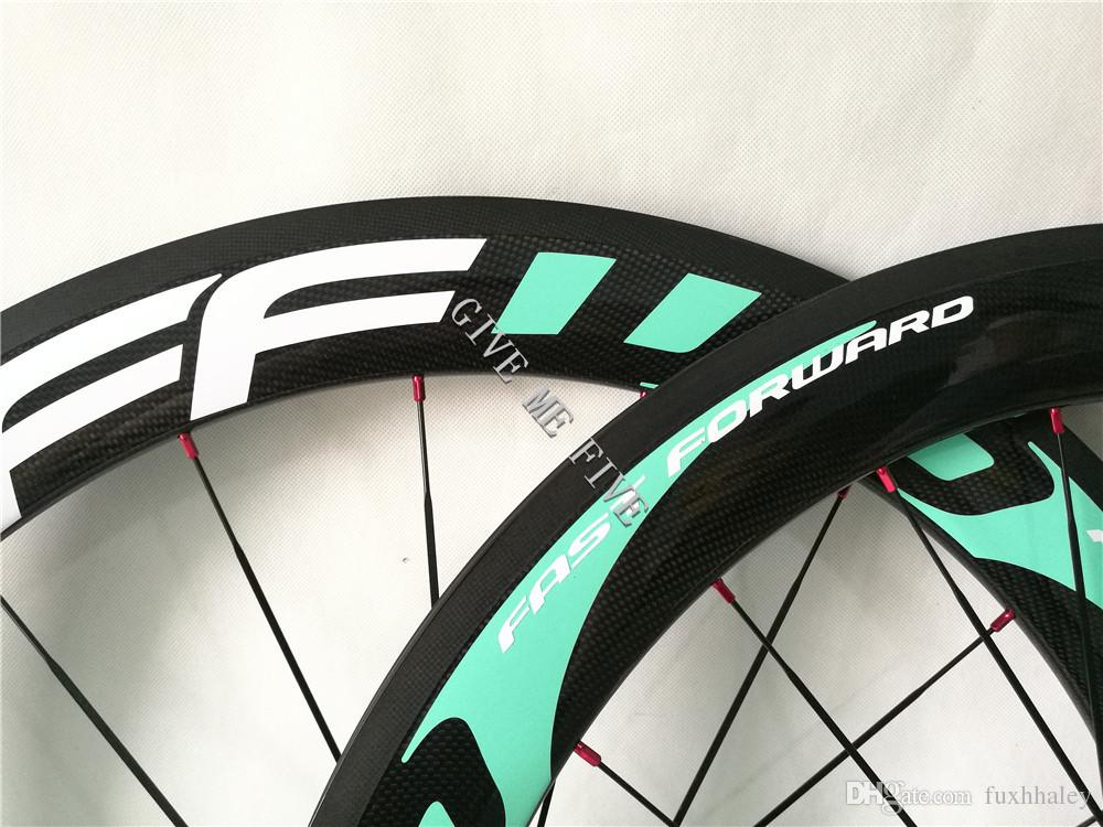 Special Color custom !!! FFWD Fast forward F6R 700C 60mm rims china carbon wheels with DT240S hubs and Sapim Cx-ray Spokes Best combination