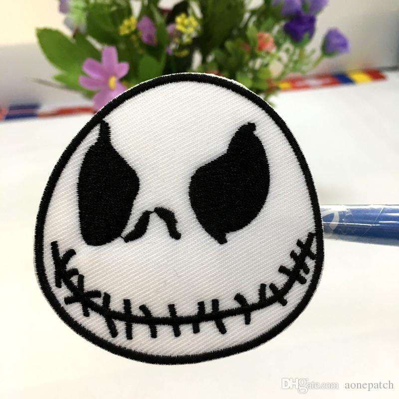 Jack Skellington Nightmare Before Christmas Movie Cartoon Sew Iron on Patch for Jacket Jeans Clothing Badge