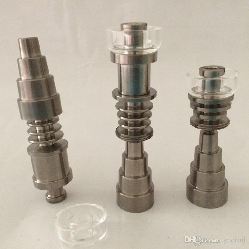 Gr2 Domeless titanio TI chiodi dabber 6 in 1 maschio femmina fit 14mm 10mm 18mm giunto vetro bong cera elettrica Dab nail dab kit