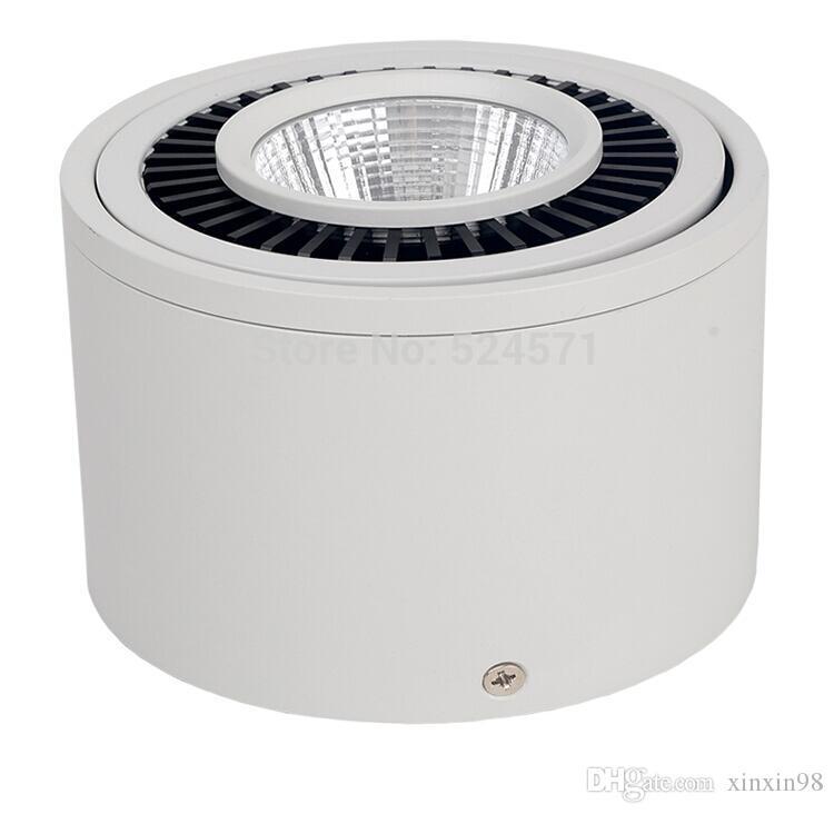 Ücretsiz Kargo 40 ADET / GRUP AC85-265V Yüzeye Monte Dim 7 W / 10 W / 15 W LED spot downlight COB aşağı ışık gömme lamba