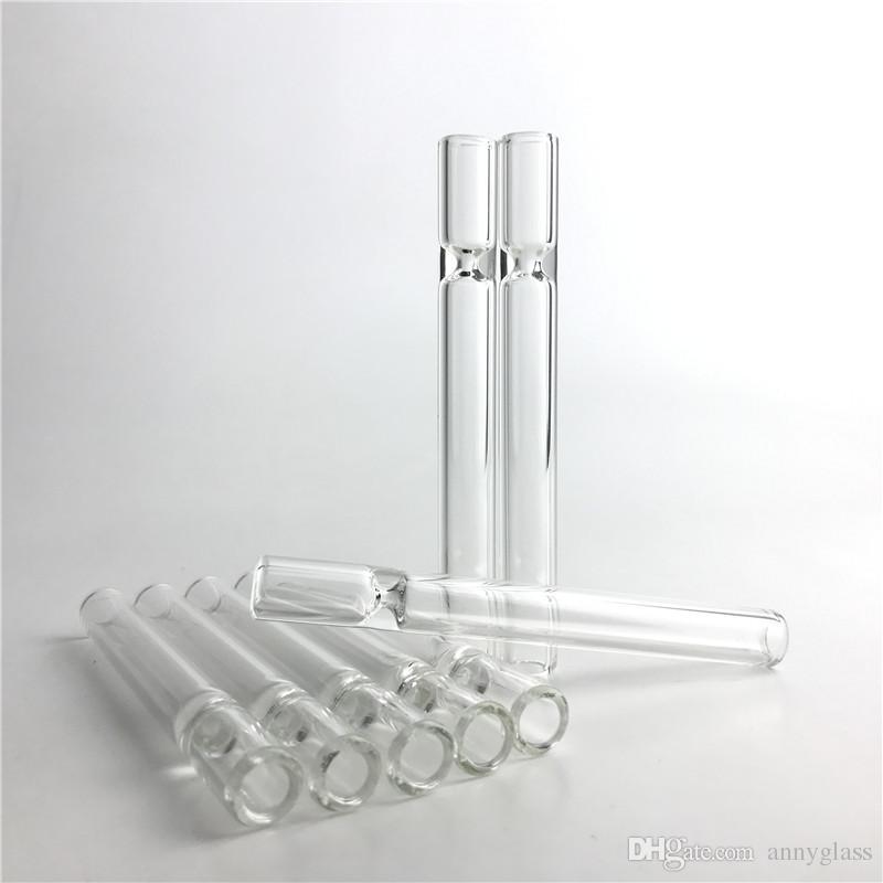 Tubos de Vidro de 4.5 Polegada de Tabaco de Cigarro de Tabaco Tubo de Palha Tubo de Água Tubos de Água Limpar Filtro de Espessura Pontas Barato Cachimbo de Mão