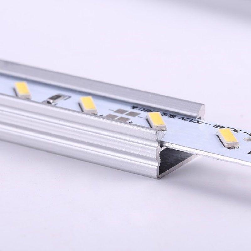 LED Rigid Strip Light 50cm 12V 36 SMD 7020 U Shape White Aluminum Alloy Shell Cabinet Lamp Bar DEL_104