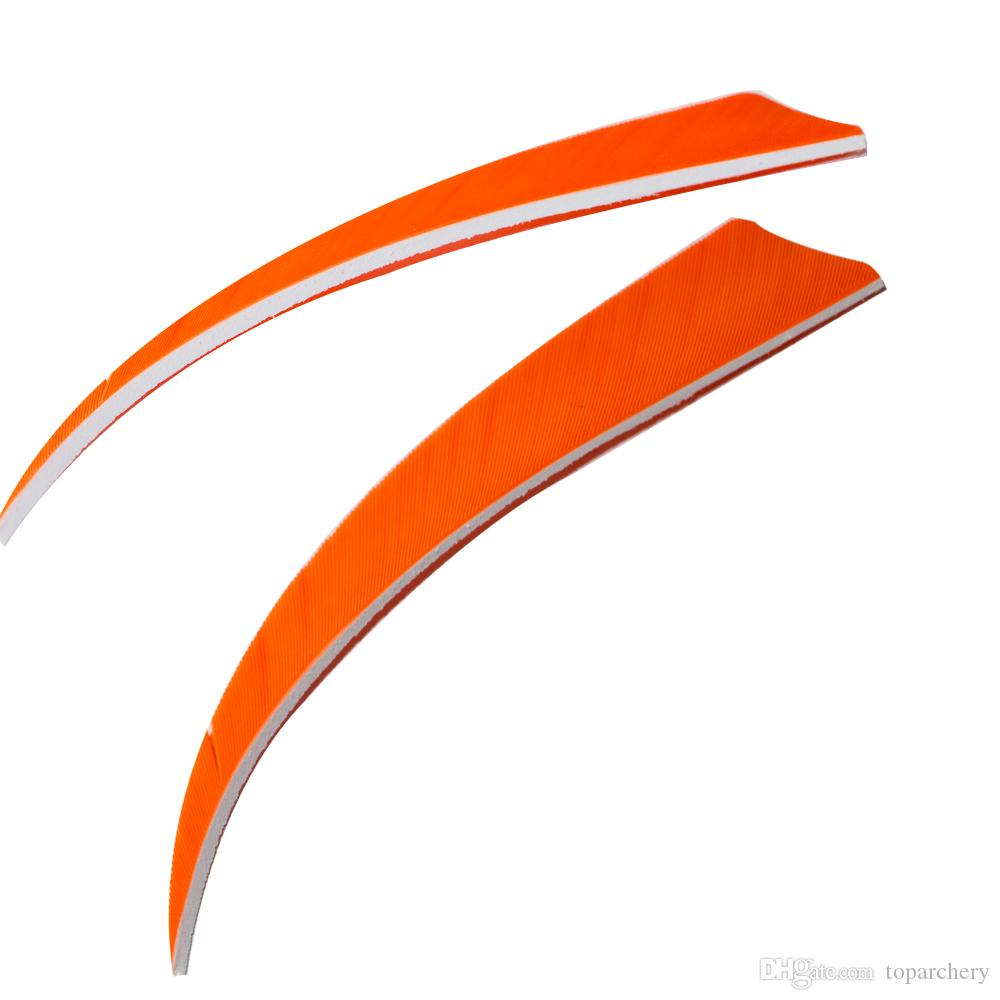5'' Left Wing Feathers for Glass Fiber Bamboo Wood Archery Arrows Hunting and Shooting Shield Orange Fletching