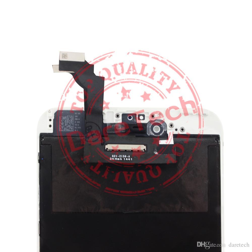 آيفون 6 زائد أعلى جودة العرض LCD التي تعمل باللمس محول الأرقام شاشة كاملة مع الإطار الجمعية الكاملة استبدال الشحن المجاني