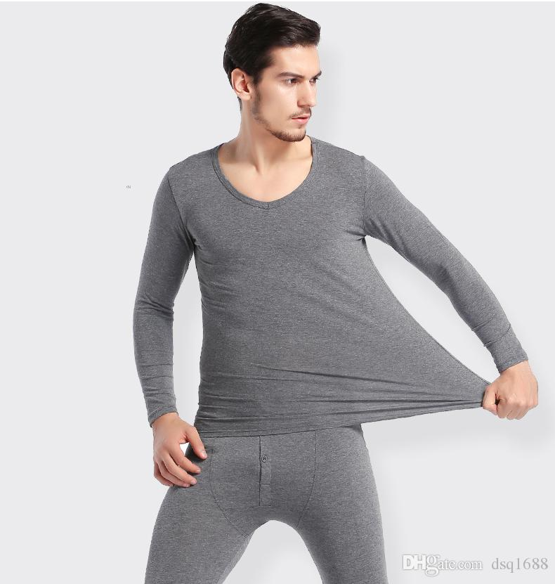 Conjunto de roupa interior para homens Conjuntos de roupas de inverno em camadas quentes Pijamas Térmicos Long Johns Sleepwear