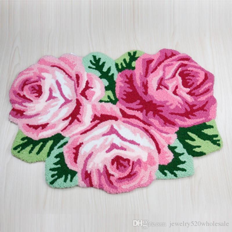 Good Rose Flower Bath Mat Shaped Rug/Mat/Carpet 3 Rose Rug Soft Carpet  Door/floor Mat Tapis Alfombras, Machine Washable Rugs 80*60cm Rose Flower  Bath Mat Bath ...