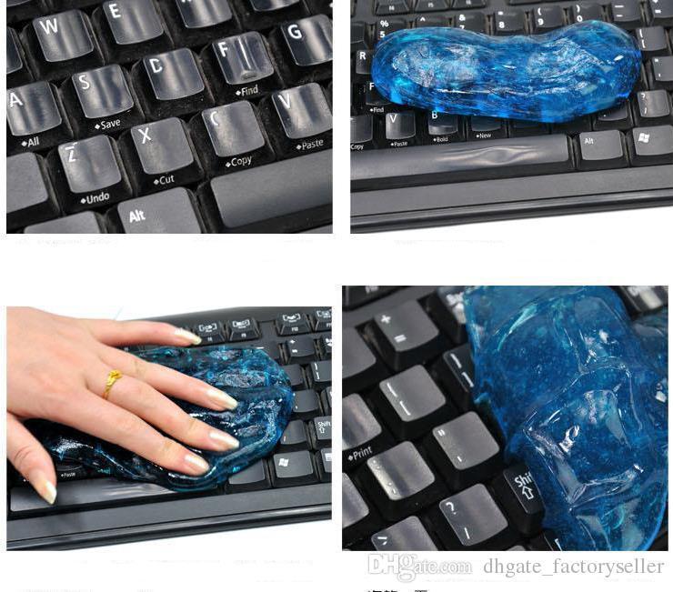 سحر ماجيك تنظيف الغبار التكنولوجيا الفائقة نظافة مجمع Slimy Gel نظافة لوحة المفاتيح / سوبر منظف الكمبيوتر / monito لأجهزة الكمبيوتر المحمول لوحة المفاتيح