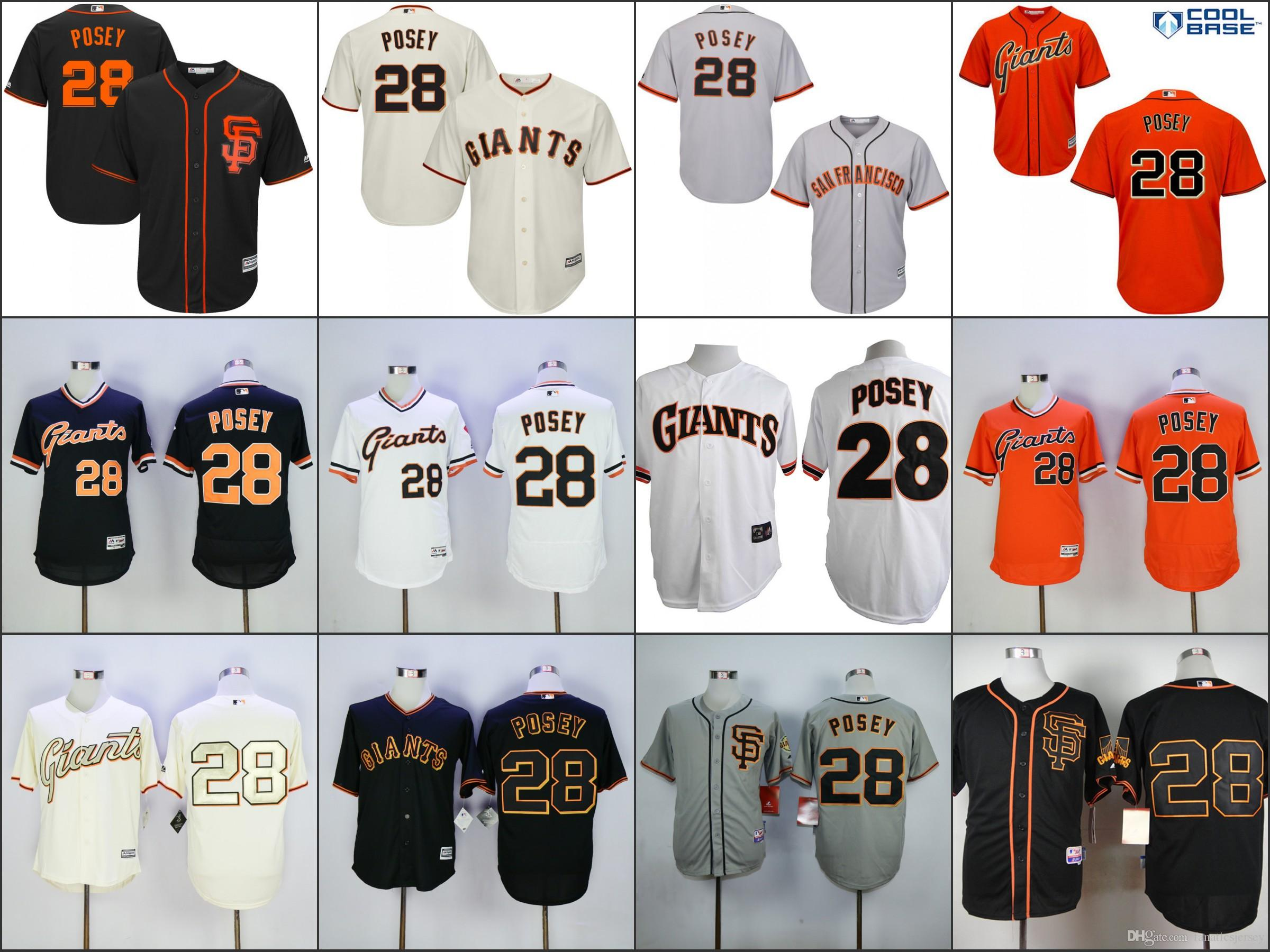 sale retailer 55c9a 87a43 28 buster posey jersey