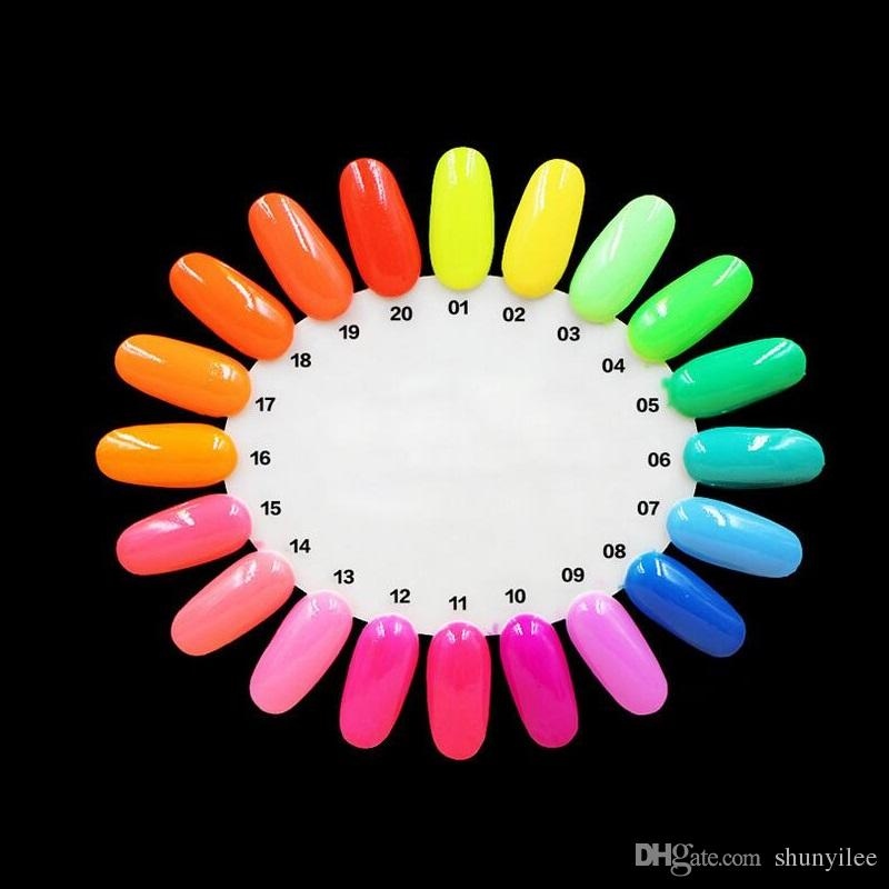 Heißer Verkauf 20 Candy Farbe Neon Leuchtgel Nagellack für Glow in Dark Nagellack Maniküre Emaille Für Bar Party