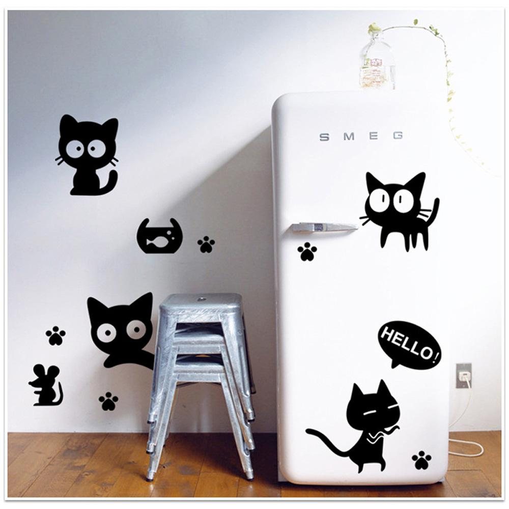 new 45 60cm removable wall decal wall sticker black cats diy new 45 60cm removable wall decal wall sticker black cats diy wallpaper art decals mural for room decoration decal wall murals decal wall quotes from