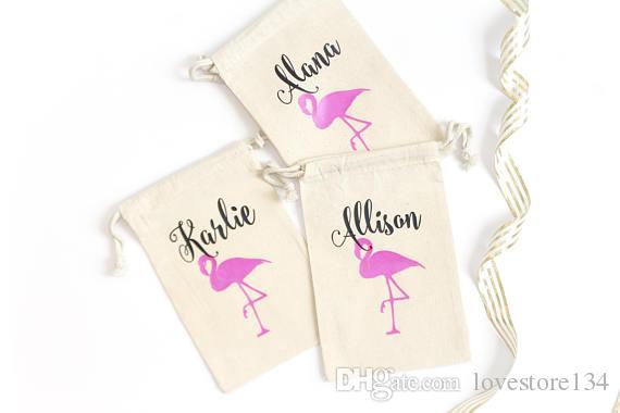 Custom Flamingo Hawaiian Birthday Wedding Hangover Kit Favor Gift Muslim Bags Bachelorette Hen Bridal Shower Party Gift Bag Bridal Shower Wedding Favors ...
