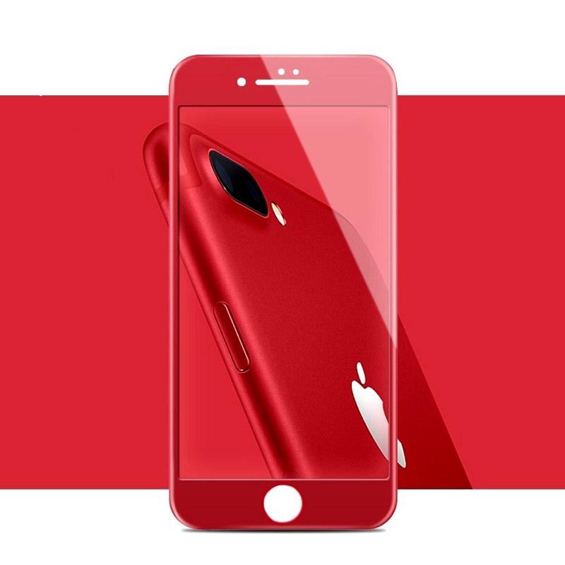 save off cdcf9 ce0ed For iPhone 7 8 Plus 5D Tempered glass screen protector for iPhone 0.2mm  Cellphone Full glue Front screen Glass Film