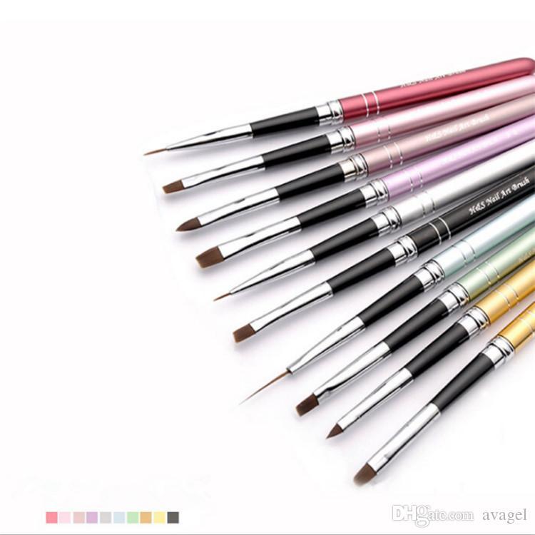 Top Quality / Set Nail Art Pen Set Kolinsky Acrylic Nail Brush For ...