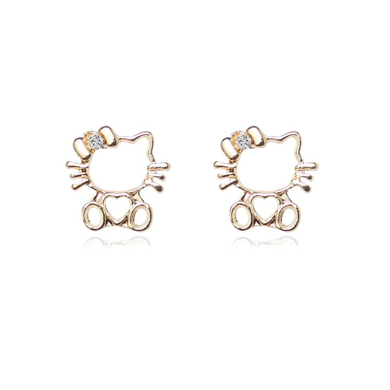 2017 2017 New Design Famous Brand Hello Kitty Jewelry Stud Earring