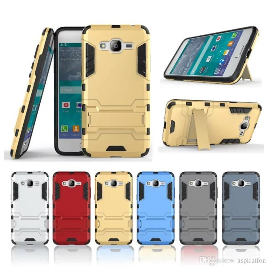 differently 62919 1b317 Armor Hard Case for Samsung Galaxy Grand Prime Plus / J2 Prime SM-G532  Hybrid Dual Layer Heavy Duty Full Body Cover with Kickstand