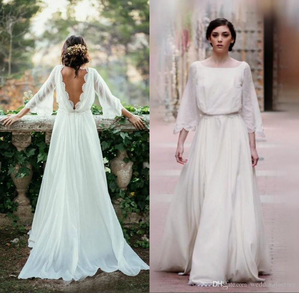 Acheter Robe De Mariée Gorgeous Country Bohemian Boho Robes De