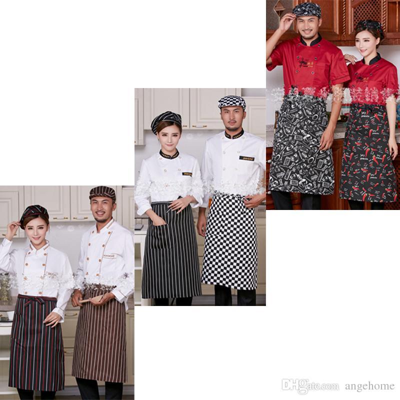 Acquista 5 Stili Banda Mezza Grembiule Con Tasche 1 Cuoco Cameriere Cucina  Moda Grembiuli Da Cucina Gli Uomini Donne A  2.42 Dal Angehome  c68ae47d258e