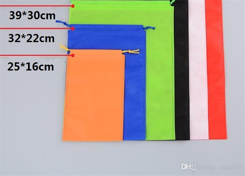Borse di cordone non tessuto colorate scarpe Borsa di stoccaggio vestiti Borsa da viaggio Borsa da viaggio portatile IC878