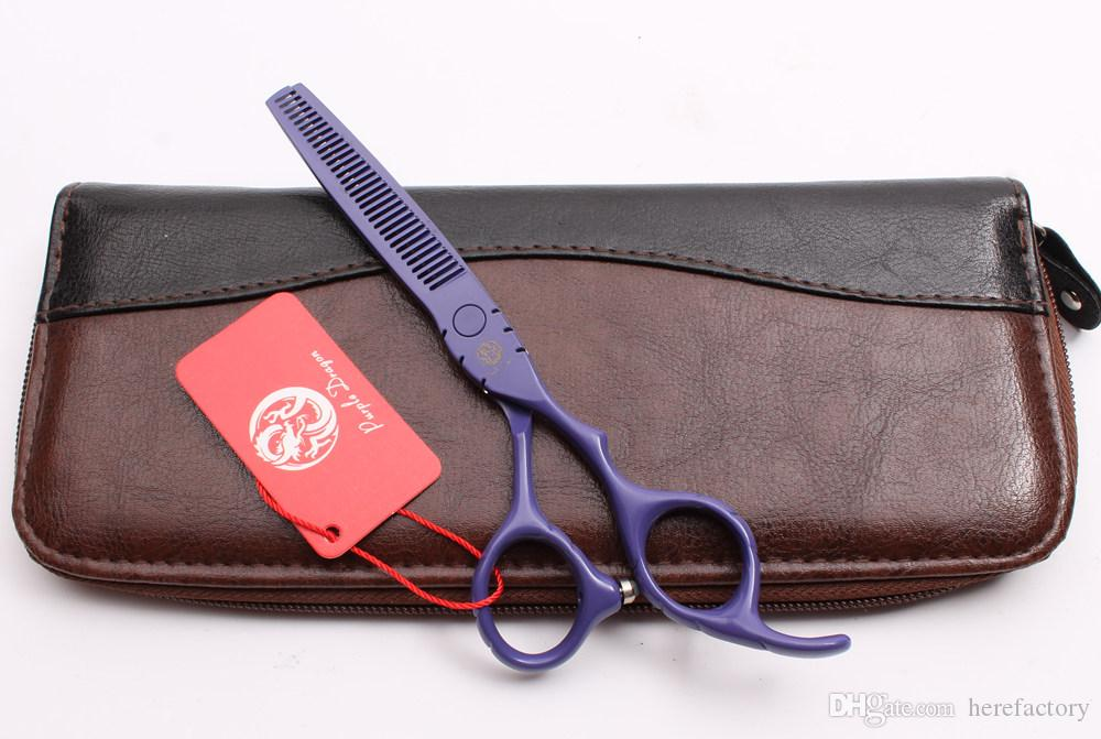 "Z1010 6"" Japan Purple Dragon Purple Professional Human Hair Scissors Barber's Hairdressing Scissors Cutting Thinning Shears Styling Tools"