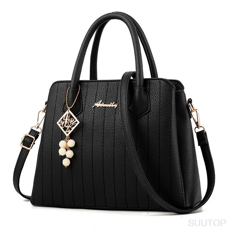b27973e3dbf1f Wholesale Suutoop Lady Big Totes Bag Women Messenger Handbag Crossbody Bag  Leather Pu With Nice Belt And Bead Bolsos Mujer Bolsos Mujer Purses  Designer ...
