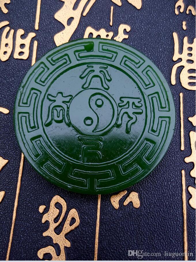 Pendente antico C1171 della giada di xinjiang hotan della Cina libera di trasporto