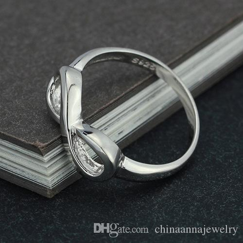 new hot plain design Infinite 8 shape simple 925 sterling silver ring stamped s925 endless love jewelry China jewelry factory wholesale